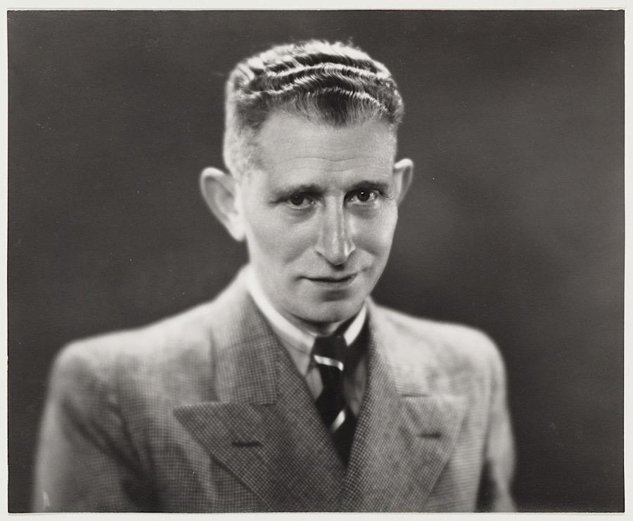 Sportpresentator Han Hollander 1930